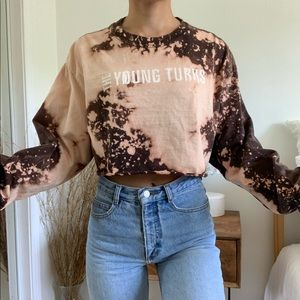 The Young Turks Bleached Tie Dye Long Sleeve Top